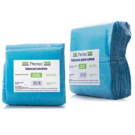 Sabana desechable paquete x 6 unidades azul
