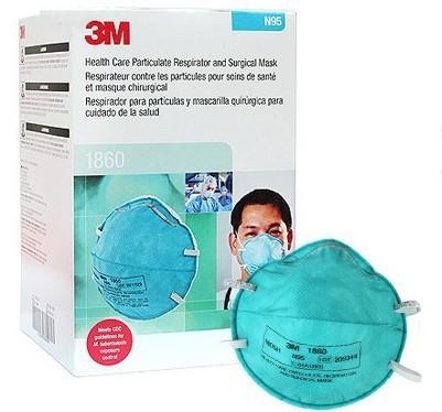 Mascara Respirador Tbc 1860 3m Caja 20 Tapabocas Ref Por