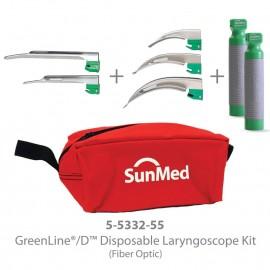 Laringoscopio de fibra optica con hojas desechables Sun Med