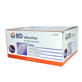 Jeringa B.D. Ultrafine para insulina de 0.3 ml - 31g x 6 mm
