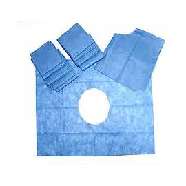 Campo quirurgico desechable abierto 2.10 x 1.50 m azul