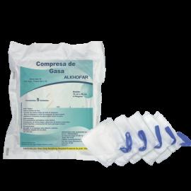 Compresa de gasa de  0.45  x  0.45  x  4  pliegues  paquete x 5 u kramer