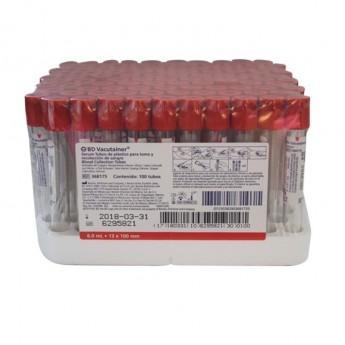 Tubos al vacio B.D Vacutainer tapón rojo ref: 367815